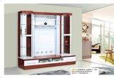 Moderne Houten TV Cabient van de Woonkamer met de Deur van het Glas