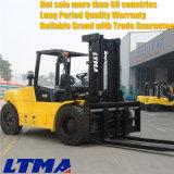 Behälter-Gabelstapler 10 Tonnen-Dieselgabelstapler mit Gabel-Stellwerk
