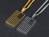 方法米国のフラグの人の女性のギフトのための吊り下げ式のネックレスの宝石類のステンレス鋼の愛国者の鎖のネックレス