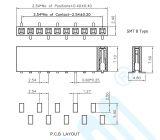 工場2.54ピッチの抵抗電圧: 1000V AC/Minute UのタイプSMT女性ヘッダのコネクター