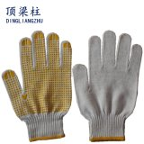 gants de coton tricotés par fonctionnement de la sûreté 10g avec les points latéraux d'un PVC