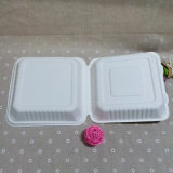 Caixa biodegradável do fast food da caixa descartável do empacotamento de alimento do bagaço