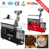 Tostador de café de la calidad del Ce 1kg con el maderero de datos
