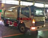 3 - 6 cu pequeño camión compactador, comprimido HOWO camiones de basura
