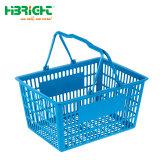 Griff-Einkaufen-Handplastikkorb des Supermarkt-Speicher-pp. doppelter