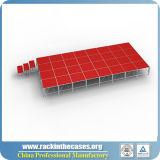 屋外のイベントのための赤いプラットホームが付いているRkのアルミニウム携帯用段階