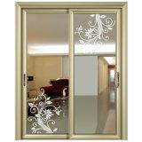 Perfil de aluminio doble acristalamiento de puerta corrediza de China