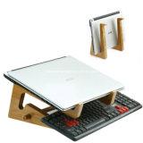 Montajes verticales de bambú naturales universales del ordenador del muelle para el soporte de madera de la computadora portátil de MacBook