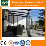 Terrasoverkapping de aluminio con el material para techos del policarbonato