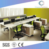 La moderna mesa de ordenador, la estación de trabajo de oficina con el Archivador (CAS-W1886)