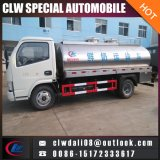 DFAC 3-6cbmのミルクのタンク車、販売のための新しいミルクの交通機関のトラック