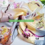 Madame Fashion Square Scarf de soie de 55*55cm 100% avec la peinture de bouquet a estampé
