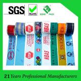 Bande adhésive d'emballage de BOPP estampée par logo fait sur commande de fournisseur digne de confiance