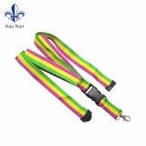 Custom полиэстер шнурки с пластмассовой преднатяжитель плечевой лямки ремня
