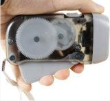 Melhor oferta promocional Mini lanterna LED Dínamo Manivela, pressionando manualmente