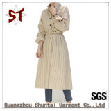 Longue robe de chemise de pistes simples en gros avec la ceinture de maintien