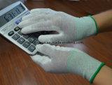 Esd-PU mit weißem Nylonpalmen-Sitz-u. Oberseite-passendem Handschuh