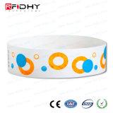 13.56MHz bracelete de papel de RFID para Gestão Hospitalar