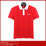 주문 자수 고품질 210GSM 두꺼운 불쾌 65% 면 폴로 t-셔츠 (P227)