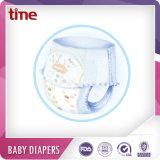 Alto pannolino assorbente respirabile del bambino di stile della mutanda con l'indicatore di umidità