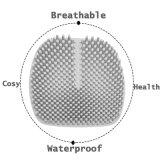 Het in te ademen Waterdichte Kussen van de Zetel van de Auto van het Silicone van het Stootkussen van de Stoel van het Bureau