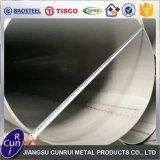 Tubo grueso grande del tubo del acero inoxidable de la pared del diámetro grande del espesor de 304 Inox