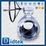 Vávula de bola suave del muñón del lacre de Wcb del engranaje caliente de Didtek