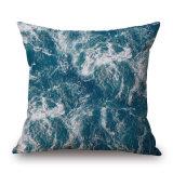 神秘的な海洋の綿の詰まらないでリネンデジタルによって印刷される枕箱(35C0234)