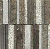겹쳐 쌓인 지구 패턴 브라운 대리석 돌 모자이크 타일