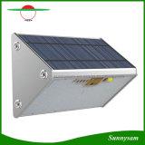 Voyants d'éclairage jardin en aluminium 76 15W Capteur radar à micro-ondes de lumière solaire avec télécommande