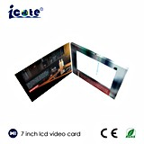La mayoría del folleto video popular del LCD de 7 pulgadas, tarjeta de felicitación video, librete video