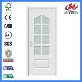 Kundenspezifische Größe Bethroom französisches geformtes weißes Glassdoor (JHK-G27)