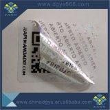 Kundenspezifisches preiswertes Garantie-Lücken-Hologramm-Laser-Aufkleber-Drucken