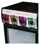 De kleine Koelkast van de Drank met de Vertoning van de Deur van het Glas (jga-SC80)