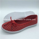 卸し売り女性のズック靴の平らな注入の靴(PY0315-18)