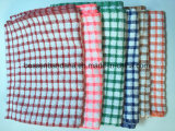 Создавайте собственные OEM проверки жаккард хлопок махровые полотенца тарелки на кухне зеленого цвета
