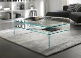 Mobilia acrilica della camera da letto di Xinzhao, doppio tavolino da salotto di vetro del pavimento