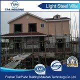 Alta calidad con dos pisos prefabricados Villa Casa construida sobre pilotes