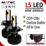 Accessoires de voiture CREE LED phares H4 LED Kit Bi Xenon HID H7 Projecteur LED 12V 24V pour voitures/camions 24V 12V 80W 8000lm, partie automatique