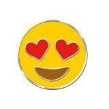 Insigne mignon fait sur commande de Pin de revers d'émail de sac d'expression d'Emoji