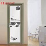 Puerta de aluminio del cuarto de baño del vidrio helado del material de construcción de la alta calidad