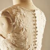 Laço do Applique que perla vestidos de casamento nupciais da tecla