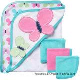 高品質の100%年の綿の赤ん坊のフード付きの浴室タオルのポンチョタオル
