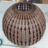 Lampada di pavimento di illuminazione dei pesci della lanterna del rattan del bronzo di stile cinese