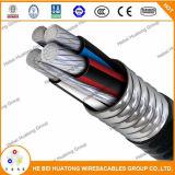 Alliage 600V d'aluminium de l'UL 1569 blindé avec le câble W/G, câble en aluminium de Xhhw-2 Inners Mc de Mc de conducteur en aluminium
