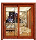 Portello scorrevole di alluminio di vetro isolato interno per la sala TV