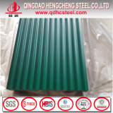 Tuile ondulée de feuille de toiture en métal de couleur d'onde