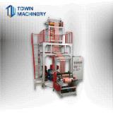 Extrudeuse de film plastique de bande de couleur de double de marque de Towin
