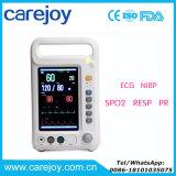 De geschikte Monitor ModelT/min 8000A de MultiParameter ECG NIBP SpO2 Resp PR van de Eerste hulp van de Noodsituatie Handbediende Geduldige van 7 Duim door Ce- Certificaat - Candice