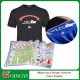 De Qingyi collant de presse de la chaleur de T-shirt de qualité haut